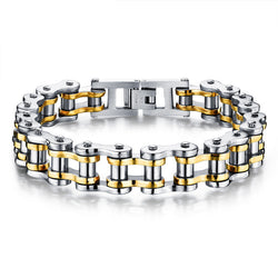 MENS Heavy Metal Motorcycle Chain Bracelet Jewellery