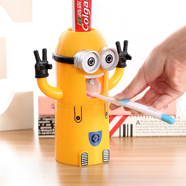 Cute MINIONS Automatic Toothbrush Holder & Dispenser