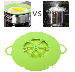 Silicone Cooking Pot Spill Stopper Lid