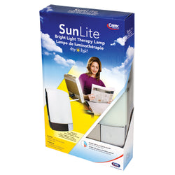 SunLite Bright Light Therapy Lamp Silver for Seasonal Affective Disorder