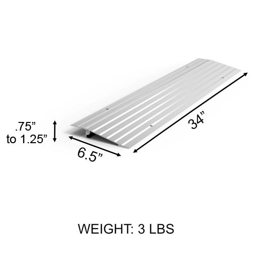"EZ Access Threshold Modular Entry Ramp 1"" x 6.5"" x 34"""