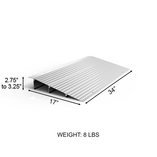 "EZ Access Threshold Modular Entry Ramp 3"" x 17"" x 34"""