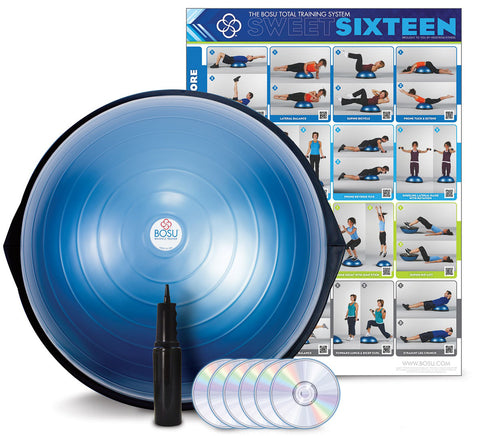 BOSU® HOME Balance Trainer with wall chart and 6 workout DVD'S