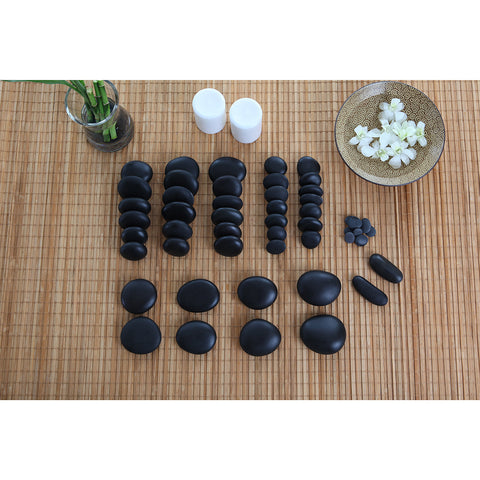 TH Stone 50 Piece Hot Stone Massage Set with DVD & Manual