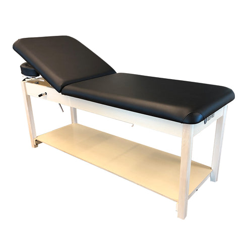 BodyMed Treatment Table with Adjustable Backrest, with Face Cradle and Storage