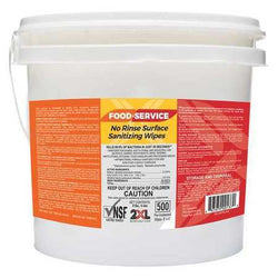 No Rinse Food Service Sanitizing Wipes - Bucket of 500