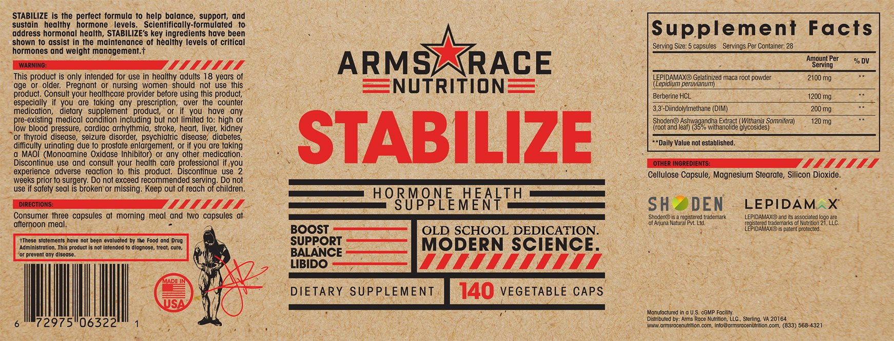 ARMS RACE NUTRITION STABILIZE