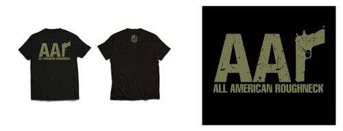 AAR SIGNATURE TEE - GREEN ON BLACK