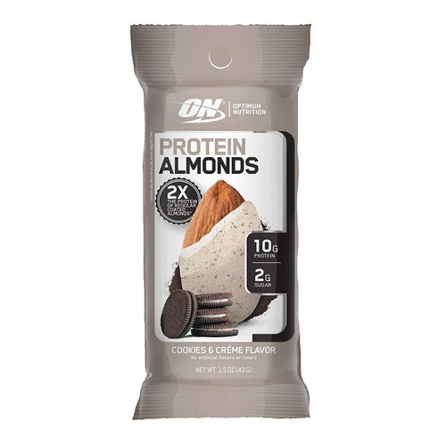 OPTIMUM NUTRITION PROTEIN ALMONDS!