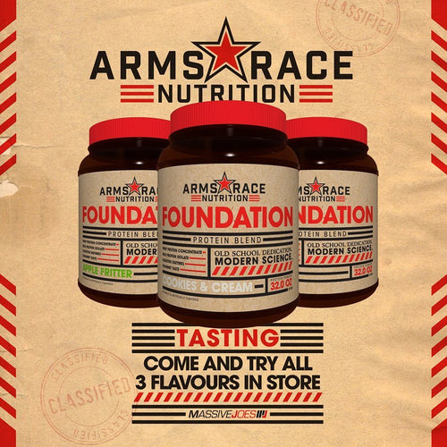 ARMS RACE NUTRITION FOUNDATION 3 PACK!
