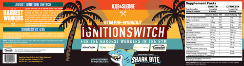 AXE & SLEDGE IGNITION SWITCH