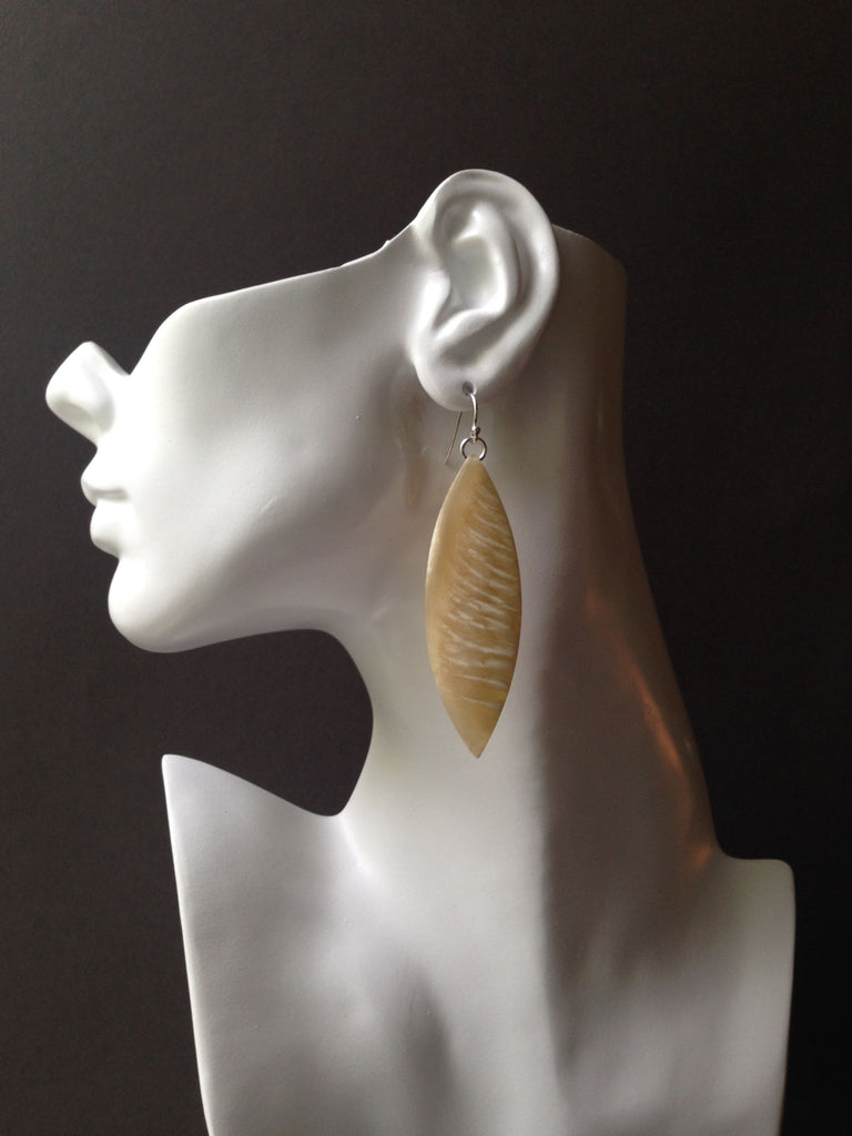 Sliver Series Muskox Horn Earrings