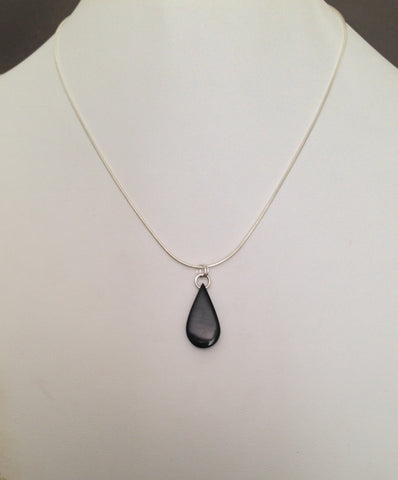 Teardrop Series Bison Horn Necklace