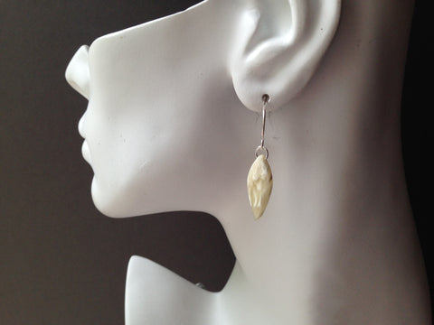 Kite Series Muskox Horn Earrings (reversed)