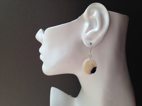 Circle Series Muskox Horn Earrings