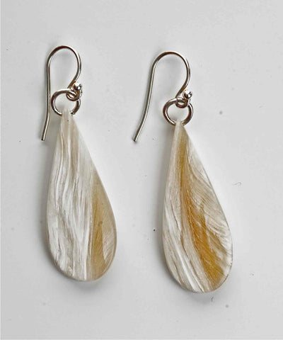 Teardrop Series Muskox Horn Earrings