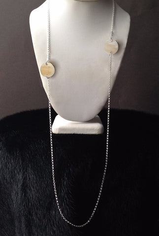 Circle Series Double Pieced Muskox Horn Necklace