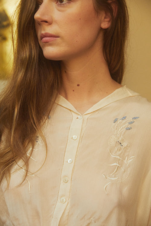 30's Embroidered Blouse
