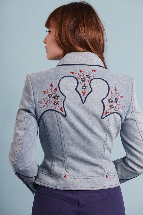 Western Embroidered Denim Jacket