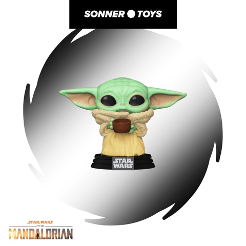 Pop! Star Wars: The Mandalorian - The Child (with Cup) - SonnerToys
