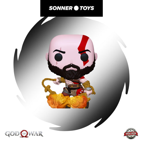 Pop! God of War - Kratos (with Blades of Chaos) Special Edition - SonnerToys