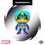 Pop! Marvel - Captain America (Black Light) Special Edition - SonnerToys