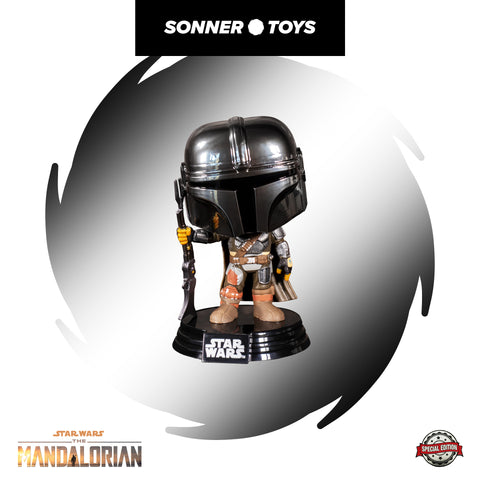 Pop! Star Wars: The Mandalorian - The Mandalorian (Chrome) Special Edition - Sonner Toys