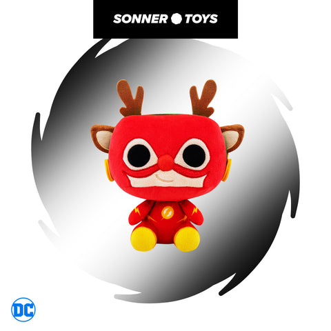 Pop! Plush: DC Holiday - The Flash (as Rudolph) - SonnerToys