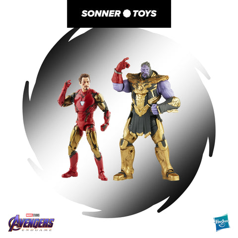Marvel Legends Infinity Saga - Avengers Endgame - Iron Man & Thanos (2 Pack)