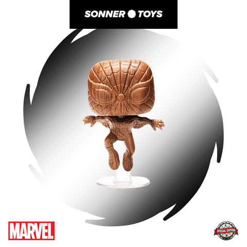 Pop! Marvel - Spider-Man (Wood Deco) Special Edition
