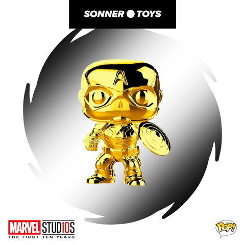 Pop! Marvel Studios 10 Years - Captain America (Gold Chrome)