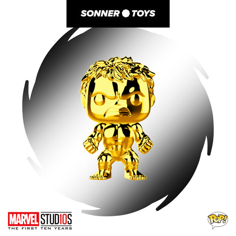 Pop! Marvel Studios 10 Years - Hulk (Gold Chrome)