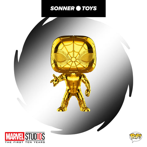 Pop! Marvel Studios 10 Years - Iron Spider (Gold Chrome) Fan Vote Winner