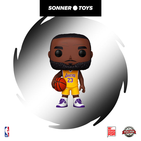 Pop! NBA: LA Lakers - LeBron James (Yellow Jersey 10 Inch!) Special Edition