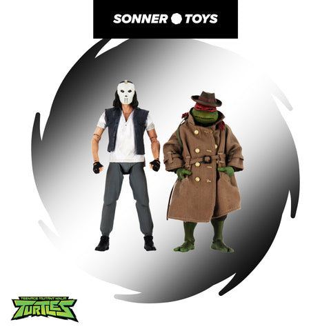 NECA: TMNT (1990) Casey Jones & Raphael (in Disguise) 2-Pack