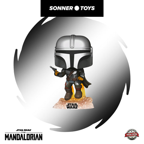 Pop! Star Wars: The Mandalorian - Mandalorian (Flying) Special Edition