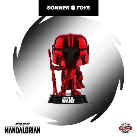 Pop! Star Wars: The Mandalorian - Mandalorian (Red Chrome) Special Edition