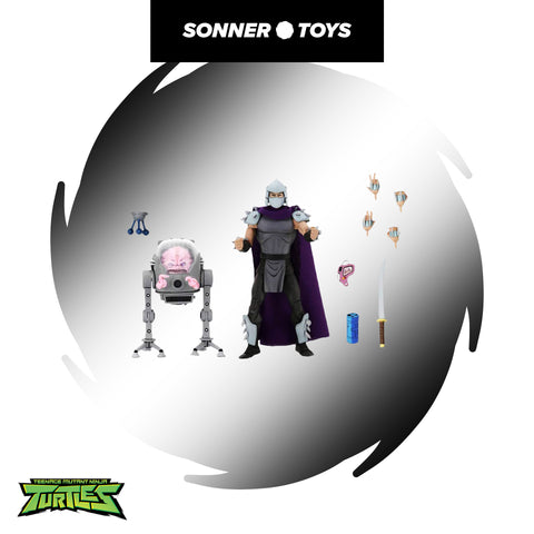 NECA: TMNT - Cartoon Shredder Vs Krang Walker