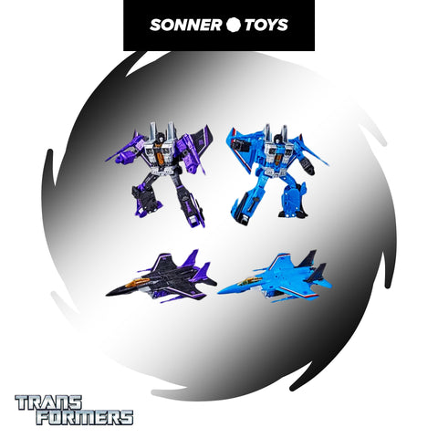 Transformers: War for Cybertron - Skywarp & Thundercracker (Voyager 2 Pack)