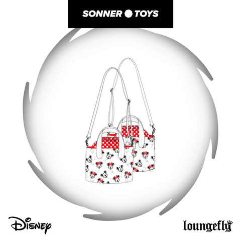 Loungefly: Disney - Mickey Minnie AOP Handbag