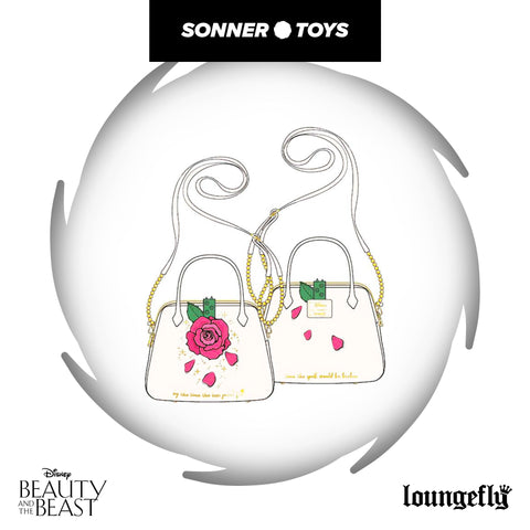 Loungefly: Beauty & the Beast - Enchanted Rose Crossbody Bag