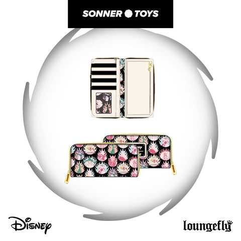 Loungefly: Disney Villains - Pastel Flames AOP Zip Around Wallet