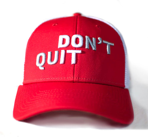 Don't Quit 2019 Baseball Hat - Red