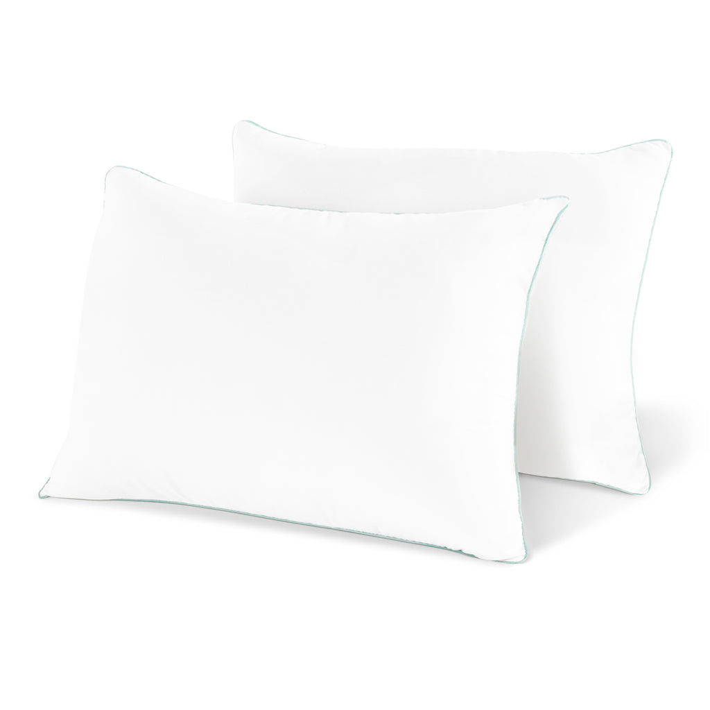 Coastal Comfort Gel Pillow (2-Pack) - Luxury Hotel Quality Plush Gel Fiber Pillow - Hypoallergenic & Dust Mite Resistant