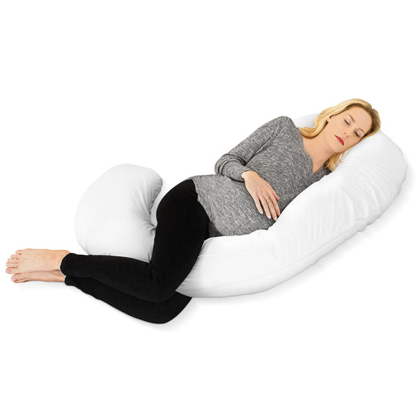 Restorology 60-Inch Full Body Pregnancy Pillow - C-shaped Maternity & Nursing Support Cushion with Washable Cover