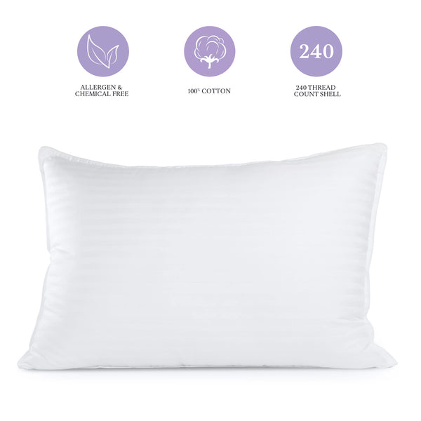 Sleep Restoration Gel Pillow – Best Hotel Quality Comfortable & Plush Cooling Gel Fiber Filled Pillow