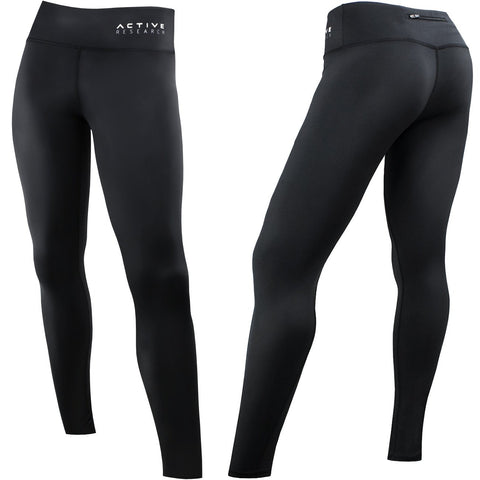 Active Research Women's Compression Pants - Athletic Tights – Leggings for Yoga, Gym, Running w/Hidden Pocket