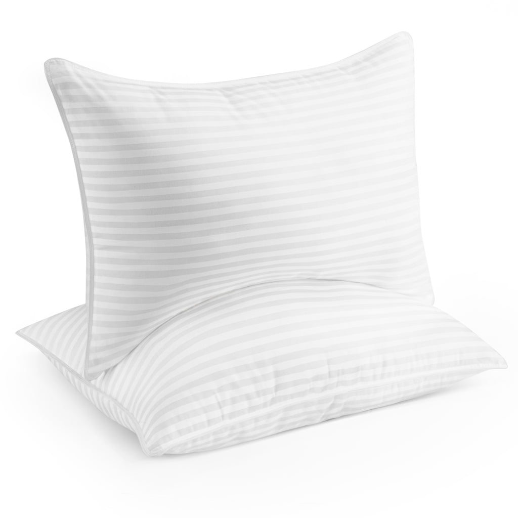 Beckham Hotel Collection Gel Pillow (2-Pack) - Luxury Plush Gel Pillow - Hypoallergenic - Queen