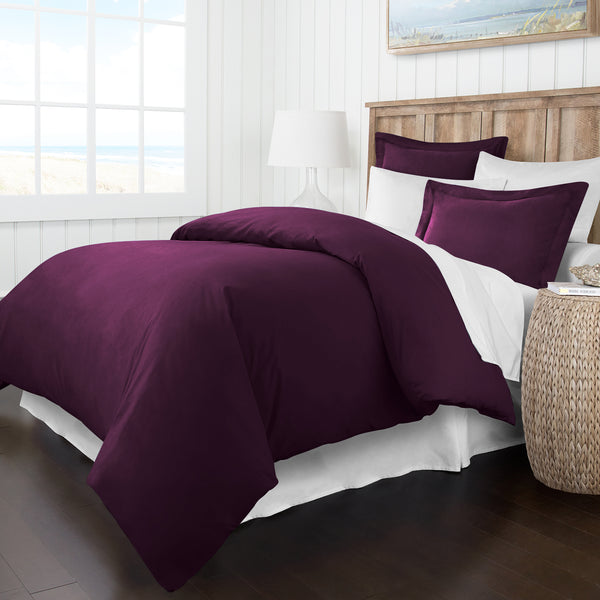 Italian Luxury Soft Brushed 1500 Series Microfiber Duvet Cover Set - Hotel Quality & Hypoallergenic with Zippered Closure & Matching Shams