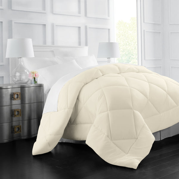 Italian Luxury Goose Down Alternative Comforter - All Season - 2100 Series Hotel Collection - Luxury Hypoallergenic Comforter
